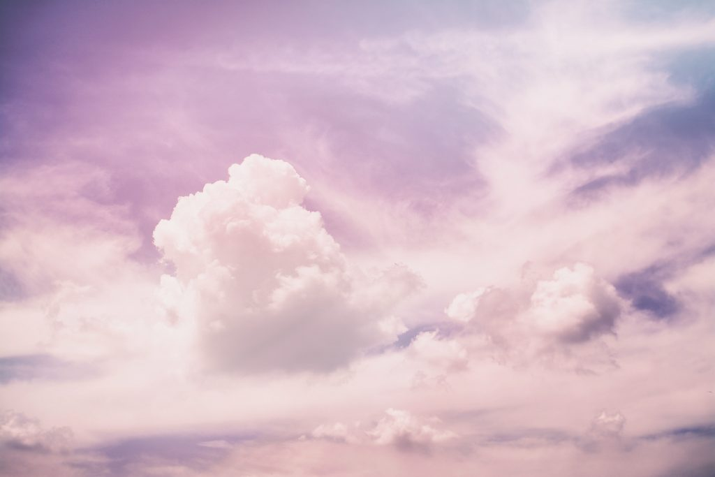 image of a purple and blue sky with clouds